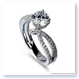 Mark Silverstein Imagines 18K White Gold Bypass Diamond Engagement Ring
