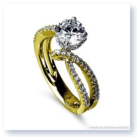 Mark Silverstein Imagines 18K Yellow Gold Bypass Diamond Engagement Ring