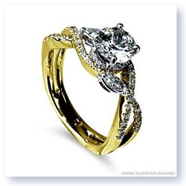 Mark Silverstein Imagines 18K Yellow Gold Marquise Side  Crossover Diamond Engagement Ring