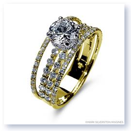 Mark Silverstein Imagines 18K Yellow Gold Four Thread Diamond Engagement Ring