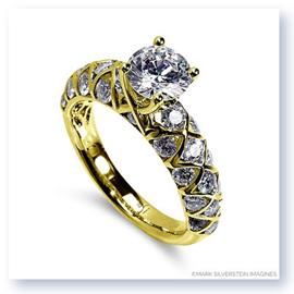 Mark Silverstein Imagines 18K Yellow Gold Honeycomb Diamond Engagement Ring