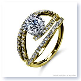 Mark Silverstein Imagines 18K Yellow Gold Split Shank Bypass Diamond Engagement Ring