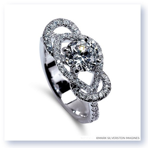 Mark Silverstein Imagines 18K White Gold Infinity Loop Diamond Engagement Ring