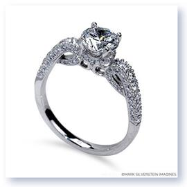 Mark Silverstein Imagines 18K White Gold Scrolling Diamond Enagagement Ring