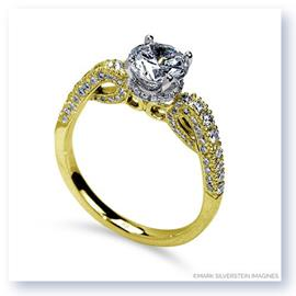 Mark Silverstein Imagines 18K Yellow Gold Scrolling Diamond Enagagement Ring