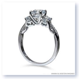 Mark Silverstein Imagines 18K White Gold Clawing Hands Diamond Engagement Ring