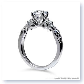 Mark Silverstein Imagines 18K White Gold Three Curl Diamond Engagement Ring