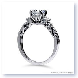 Mark Silverstein Imagines 18K White Gold Curled Leaf Diamond Engagement Ring