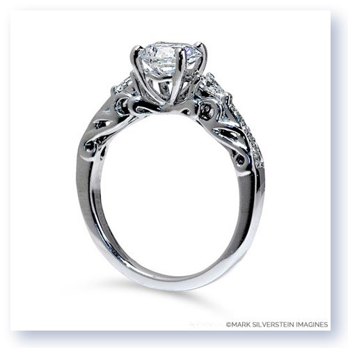 Mark Silverstein Imagines 18K White Gold Sculpted Design Diamond Enagagement Ring