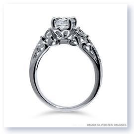 Mark Silverstein Imagines 18K White Gold Heart Filigree Diamond Engagement Ring