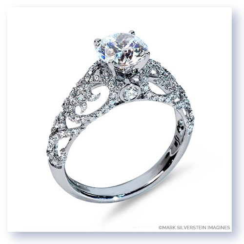 Mark Silverstein Imagines 18K White Gold Airy Diamond Engagement Ring