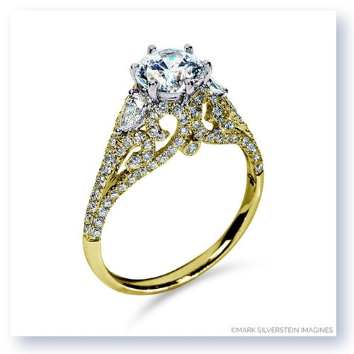 Mark Silverstein Imagines 18K Yellow Gold Lattice Diamond Enagagement Ring
