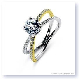 Mark Silverstein Imagines 18K White and Yellow Gold Double Loop Diamond Engagement Ring