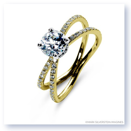 Mark Silverstein Imagines 18K Yellow Gold Double Loop Diamond Engagement Ring