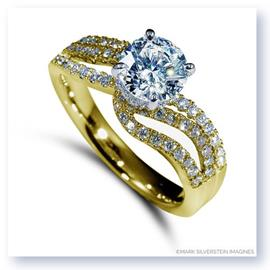 Mark Silverstein Imagines 18K Yellow Gold Wave Bypass Diamond Engagement Ring