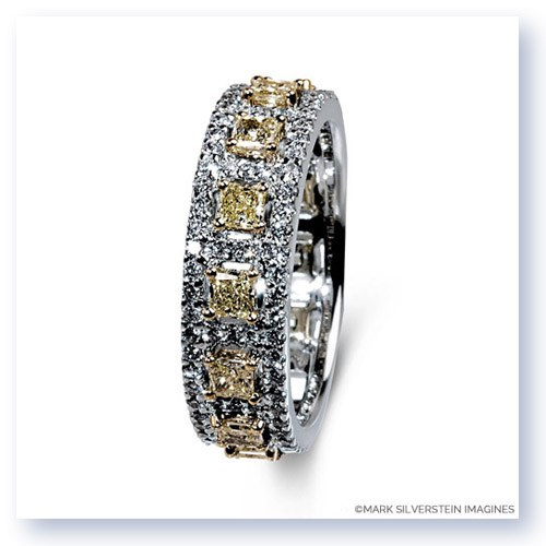 Mark Silverstein Imagines 18K White and Yellow Gold Yellow and White Diamond Accent Fashion Thin Band