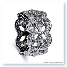 Mark Silverstein Imagines 18K White Gold Open Circle and Star Fashion Band