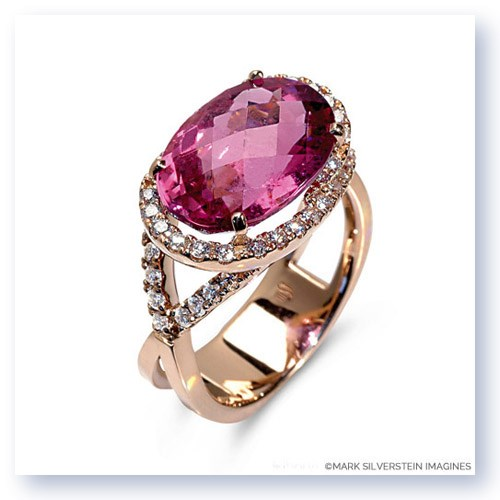 Mark Silverstein Imagines 18K Rose Gold Pink Tourmaline Cocktail Ring