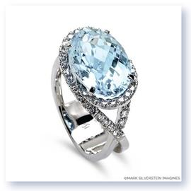 Mark Silverstein Imagines 18K White Gold Aquamarine Cocktail Ring