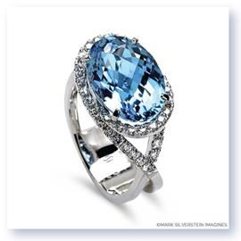 Mark Silverstein Imagines 18K White Gold Blue Topaz Cocktail Ring