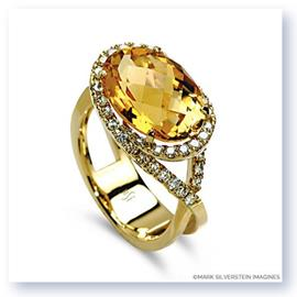 Mark Silverstein Imagines 18K Rose Gold Citrine Cocktail Ring