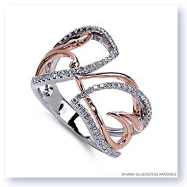 Mark Silverstein Imagines 18K White and Rose Gold Heart Inspired Diamond Fashion Ring