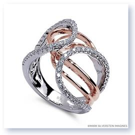 Mark Silverstein Imagines 18K White and Rose Gold Looping Diamond Fashion Ring
