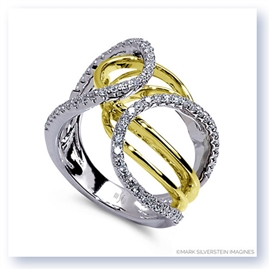 Mark Silverstein Imagines 18K White and Yellow Gold Looping Diamond Fashion Ring