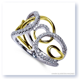 Mark Silverstein Imagines 18K White and Yellow Gold Multi-Loop Diamond Fashion Ring