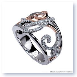 Mark Silverstein Imagines 18K White and Rose Gold  Freeform Diamond Fashion Ring