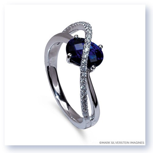 Mark Silverstein Imagines 18k White Gold Sapphire and Diamond Right-Hand Ring