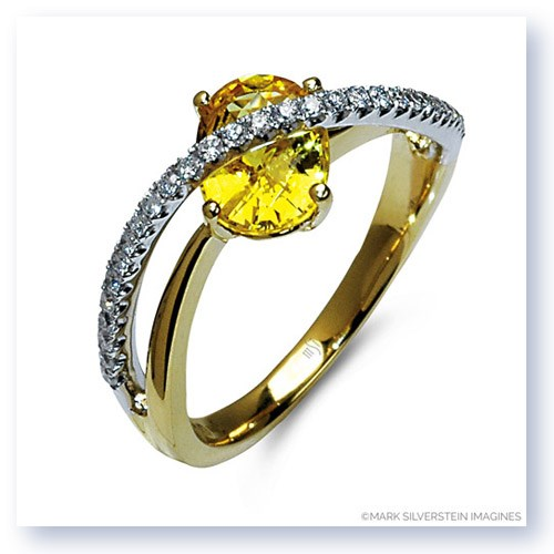 Mark Silverstein Imagines 18k White and Yellow Gold Sapphire and Diamond Right-Hand Ring
