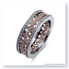 Mark Silverstein Imagines 18K White and Rose Gold Heart Inspired Diamond Eternity Ring