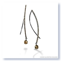 Mark Silverstein Imagines Long Wire Thin 18K  Gold Black Rhodium Diamond  Briolette Earrings
