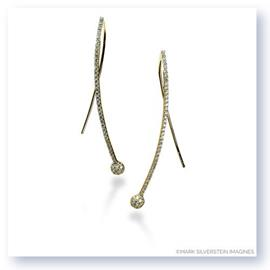 Mark Silverstein Imagines 18K Yellow Gold Crossover Diamond Earrings