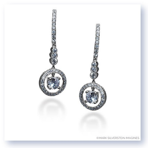 Mark Silverstein Imagines 18K White Gold Suspended Diamond Dangle Earrings