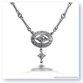 Mark Silverstein Imagines 18K White Gold Drop Diamond Necklace