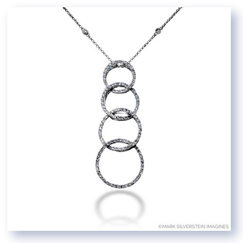 Mark Silverstein Imagines 18K White Gold Journey Inspired Open Circle Pendant