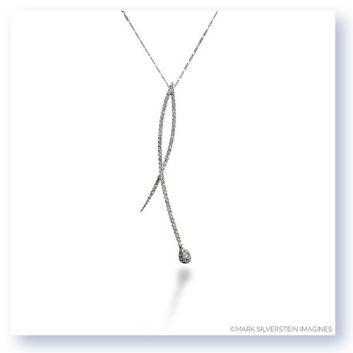 Mark Silverstein Imagines 18K White Gold Crossover Diamond Pendant
