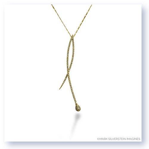 Mark Silverstein Imagines 18K Yellow Gold Crossover Diamond Pendant