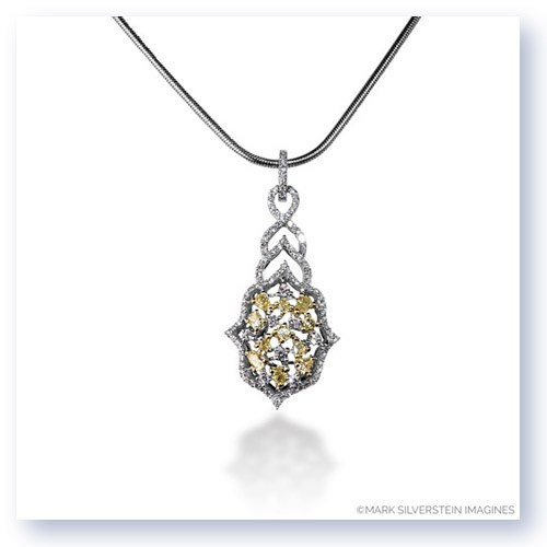 Mark Silverstein Imagines 18K White and Yellow Gold White and Yellow Diamond Four Star Pendant