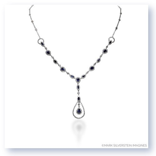 Mark Silverstein Imagines 18K White Gold Diamond and Sapphire Pendant