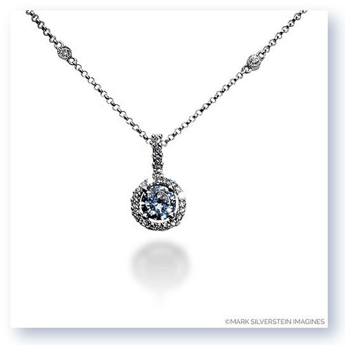 Mark Silverstein Imagines 18K White Gold 5mm Diamond Halo Pendant