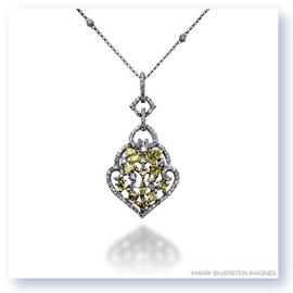 Mark Silverstein Imagines 18K White and Yellow Gold White and Yellow Diamond Open Trellis Pendant
