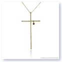 "Mark Silverstein Imagines 18K Yellow Gold ""Heart of Christ"" Diamond and Ruby Cross Pendant"