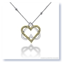 Mark Silverstein Imagines 18K White and Yellow Gold Double Heart Diamond Pendant