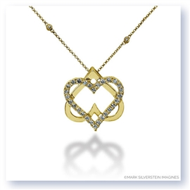 Mark Silverstein Imagines 18K Yellow Gold Double Heart Diamond Pendant