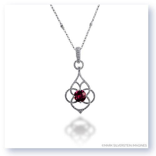Mark Silverstein Imagines 18K White Gold Diamond and Rubellite Tourmaline