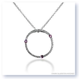 Mark Silverstein Imagines 18K White Gold Diamond and Pink Sapphire Circle Pendant
