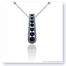 Mark Silverstein Imagines 18K White Gold Journey Inspired Sapphire and Diamond Pendant
